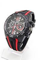 Мужские наручные часы Audi (черный циферблат, красные  метки) (Копия), фото 1