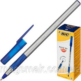 Ручка шариковая масляная BIC Round Stic Exact синяя (толщина линии 0.35 мм)