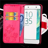 Чехол Clover для Sony Xperia XA / F3112 / F3111 / F3115 / F3116 / F3113 книжка кожа PU Pink