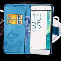 Чехол Clover для Sony Xperia XA / F3112 / F3111 / F3115 / F3116 / F3113 книжка кожа PU Blue