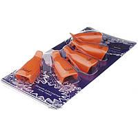 Набор клипс 5 шт, для снятия гель-лака, Оранжевые