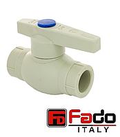 Кран шаровый для холодной воды ППР FADO 40 мм