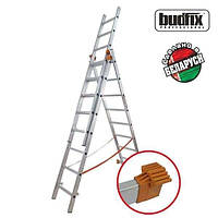Лестница трехсекционая алюминиевая Budfix 3x7