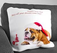 Подарочная новогодняя подушка