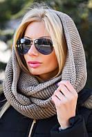 Женская шапка-шарф (снуд)