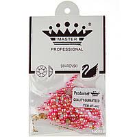 Камни для декора ногтей (MP-442) Розовый перламутр