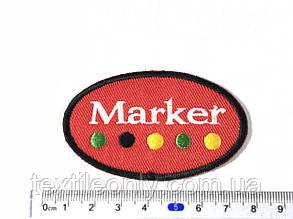 Нашивка Marker 70x43мм, фото 2