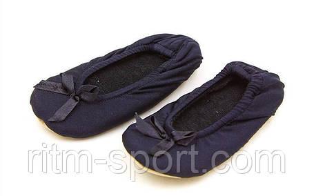 Балетные тапочки атласные детские черные (размер 21 - 25), фото 2