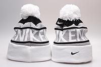 Белая мужская шапка Nike, с бубоном