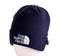 Мужская шапка TNF, The North Face, синяя, на флисе