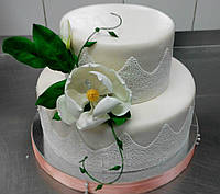 Торт на заказ для женщины Магнолия