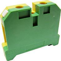Клеммник заземления наборной 16/35 сечение min/max 0,5-16 жёлто-зелёный (типа ЗНИ-16PEN)