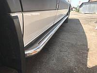 Пороги боковые Mercedes sprinter 906 (мерседес спринтер 906) нерж. premium