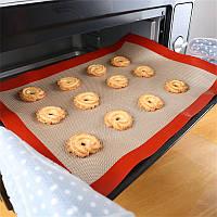 """Силіконовий килимок для випічки, запікання, силіконовий килимок """"Пекар"""" 39х29 см кондитерський, фото 1"""