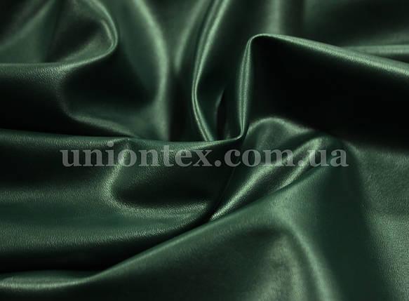 Искусственная стрейч кожа темно-зеленая (бутылка), фото 2