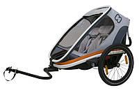 Велоприцеп Hamax Outback двухместный многофункциональный детский серый/белый/оранжевый