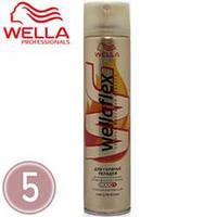 WellaFlex Лак для волос 250ml Для горячей укладки ссф-5 длительная фиксация для укладки феном, стайлером