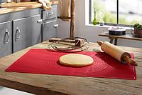 Силиконовый коврик для раскатки теста 62х42х0,13см, коврик для запекания,  коврик для теста с разметкой