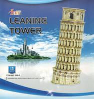 Конструктор 3D из ламинированного пенокартона Великие сооружения Пизанская башня 13 деталей