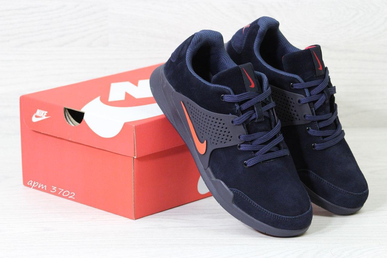 Кроссовки Nike air presto замшевые,темно синие с оранжевым
