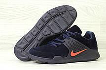 Кроссовки Nike air presto замшевые,темно синие с оранжевым, фото 2
