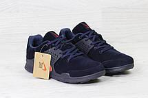 Кроссовки Nike air presto замшевые,темно синие с оранжевым, фото 3