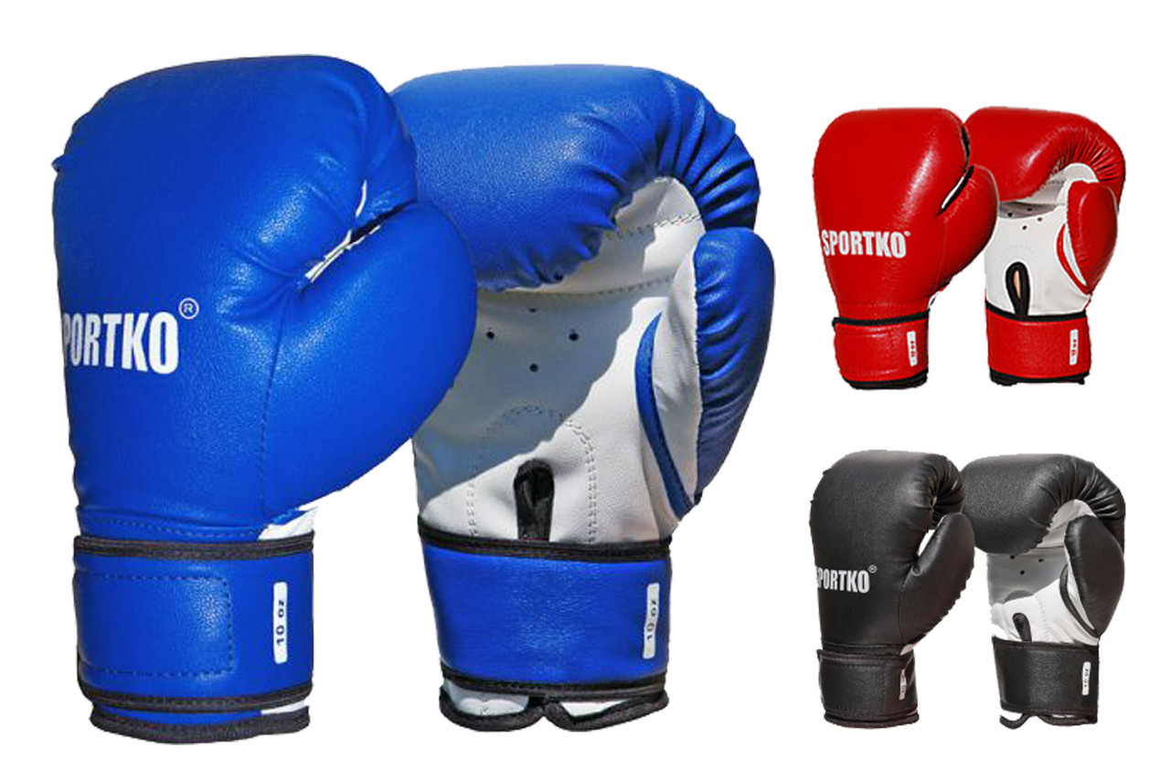 Боксерские перчатки тренировочные кожвинил 10 унций.