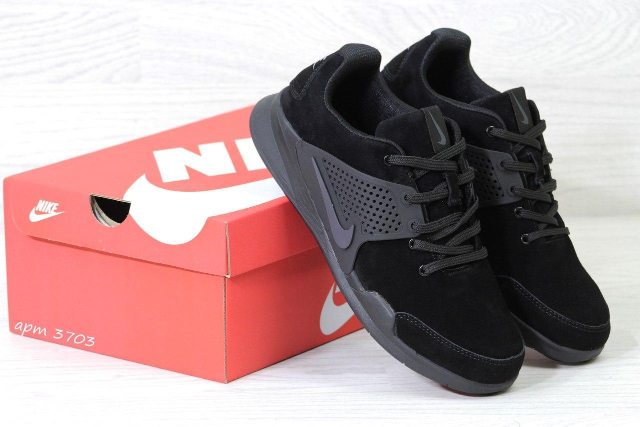 Кроссовки Nike air presto замшевые,черные