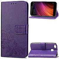 Чехол Clover для Xiaomi Redmi 4X / 4X Pro книжка кожа PU женский Purple