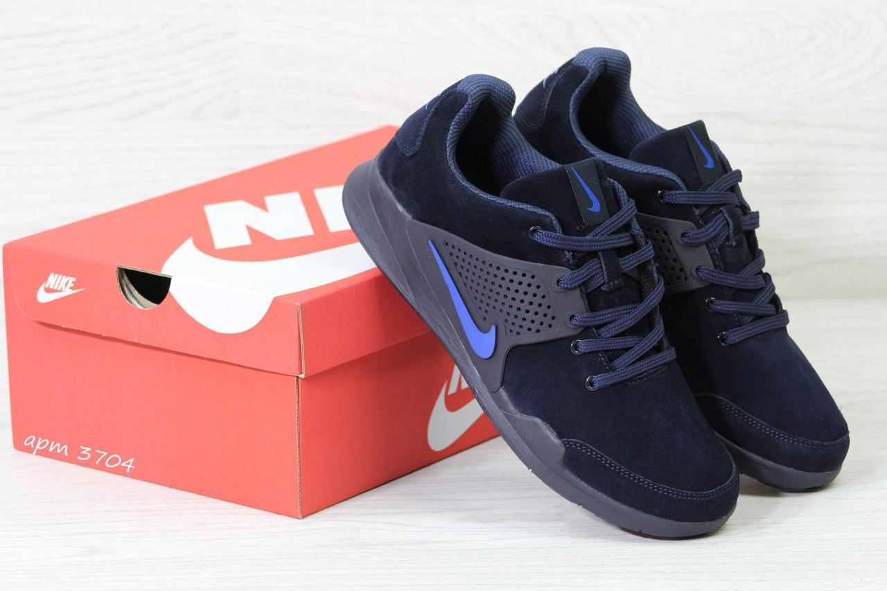 Кроссовки Nike air presto замшевые,темно синие