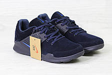 Кроссовки Nike air presto замшевые,темно синие, фото 2