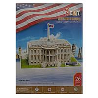 Конструктор 3D из ламинированного пенокартона Великие сооружения Белый дом 26 деталей