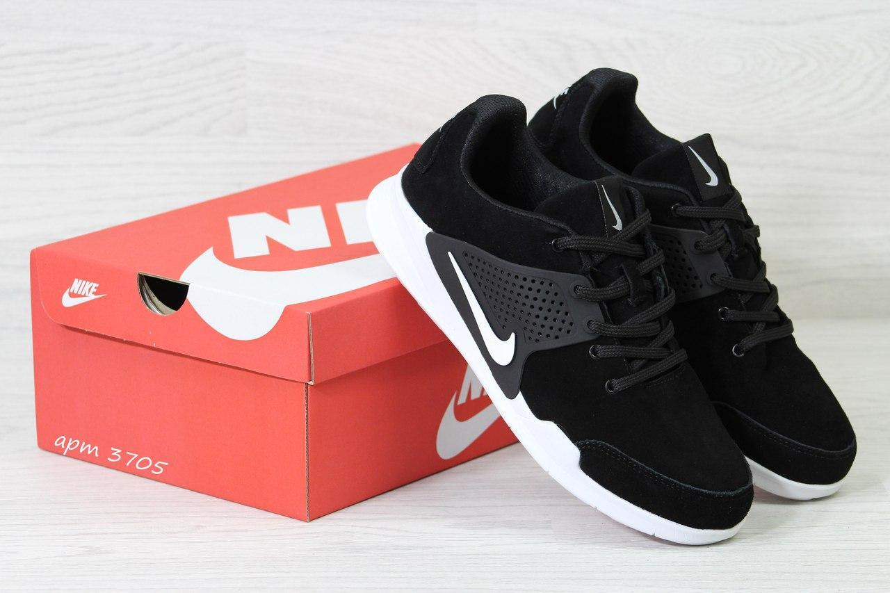 Кроссовки Nike air presto замшевые,черно-белые