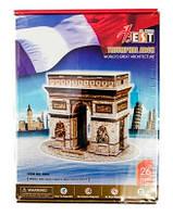 Конструктор 3D из ламинированного пенокартона Великие сооружения Триумфальная арка 26 деталей