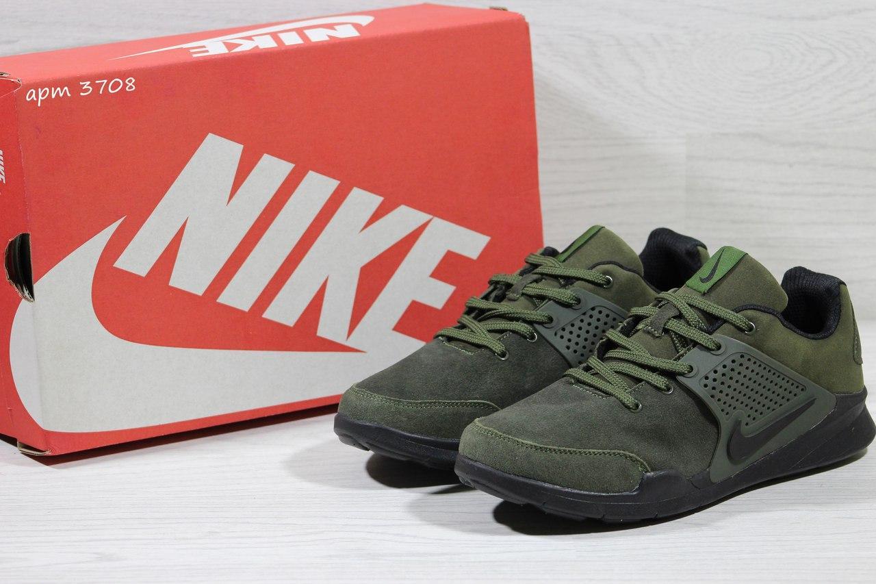 Кроссовки Nike air presto замшевые,зелёные