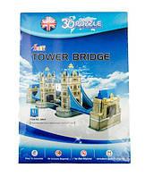 Конструктор 3D из ламинированного пенокартона Великие сооружения Тауэрский мост 41 деталей