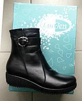 Зимние ботинки женские кожаные 38р