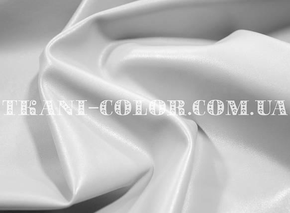 Ткань стрейч-кожа белая, фото 2