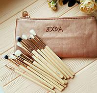 Набор кистей для макияжа Zoeva ROSE GOLDEN 12 штук