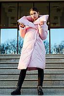 Женское зимнее пальто одеяло, стеганное ромбам