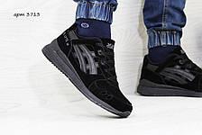 Кроссовки мужские Asics GEL LYTE III замшевые,черные, фото 2