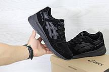 Кроссовки мужские Asics GEL LYTE III замшевые,черные, фото 3