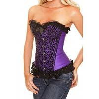 Фиолетовый элегантный корсет