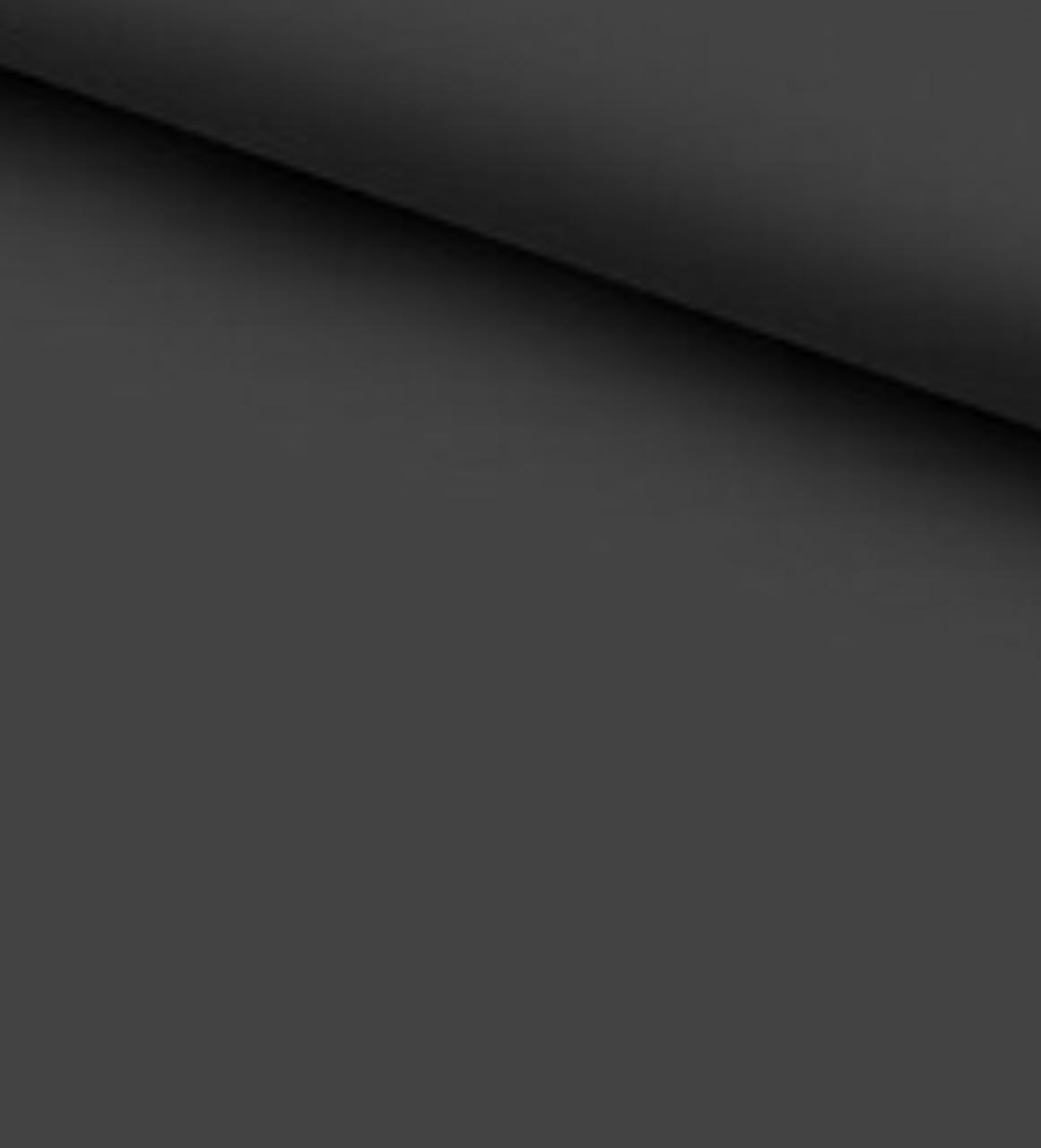 Хлопковая ткань (ранфорс) однотонная темно-графитовая 2.2