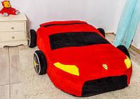 Детская мягкая кровать машинка