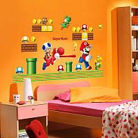 Интерьерная декоративная виниловая наклейка в детскую комнату Супер Марио