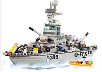 Конструктор SLUBAN M38-B0126 АРМИЯ - Военный корабль (577 дет.), фото 1