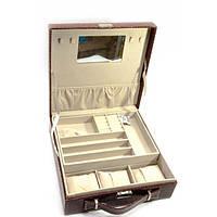 Коричневая шкатулка для бижутерии и часов