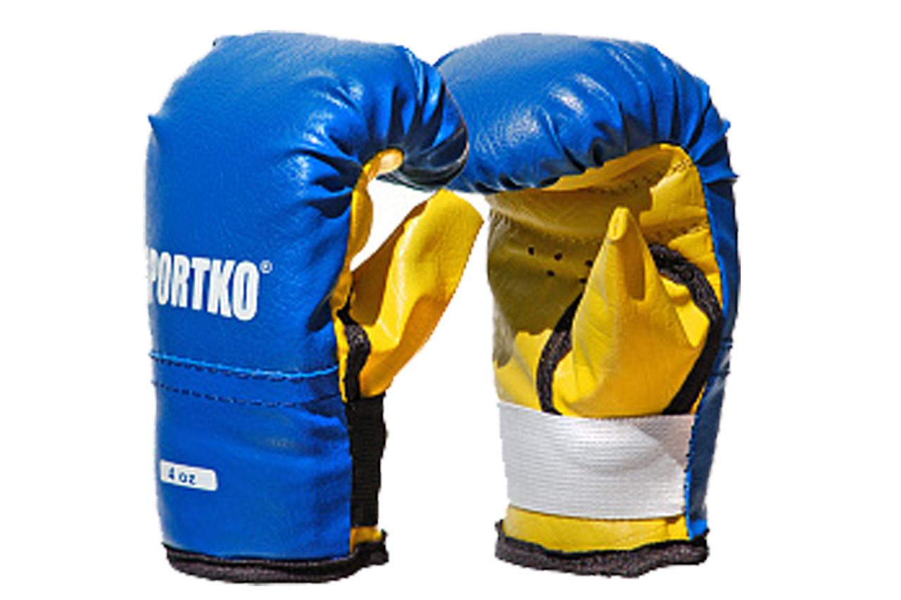 Детские боксерские перчатки тренировочные кожвинил 4 унции.