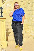 Женский комбинезон брюки с молнией БАТАЛ